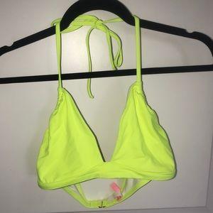 Victoria's Secret Bikini Top Lemon XL NWOT